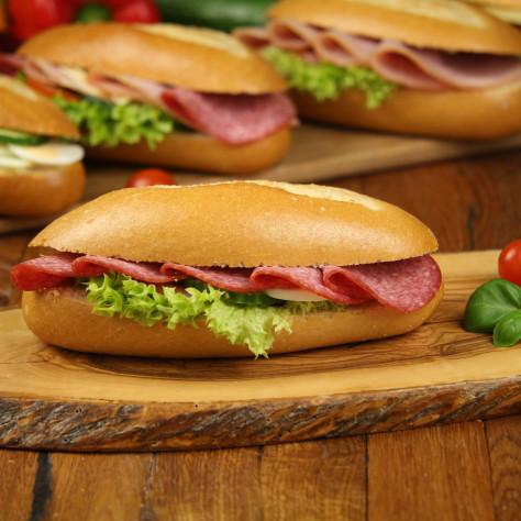 Baguette mit Salami